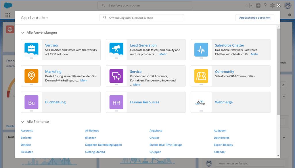 Salesforce App Launcher