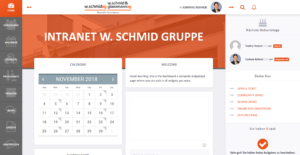 Screenshot Intranet w.schmid ag